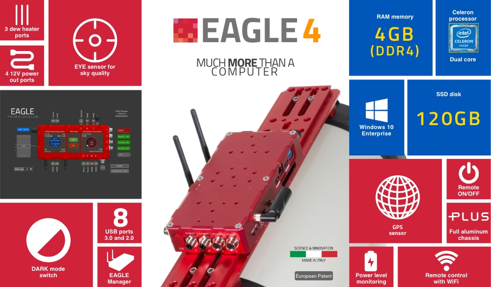 EAGLE4, advanced control unit for telescopes and astrophotography