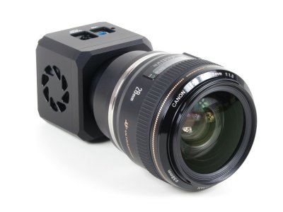 C1 camera with Canon EOS lens attached