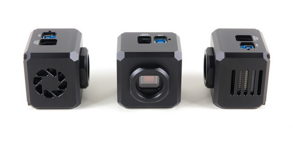 Cooling air intake is on the left side of the camera (left image), while the output vents are on the opposite side (right image)