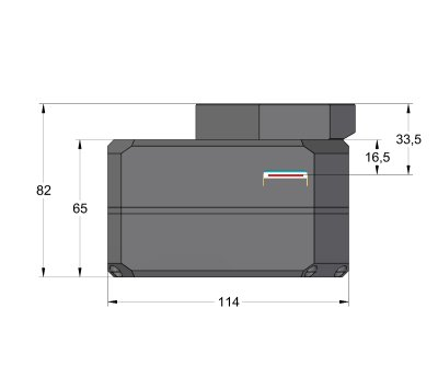 Camera without filter wheel with thick adapter base