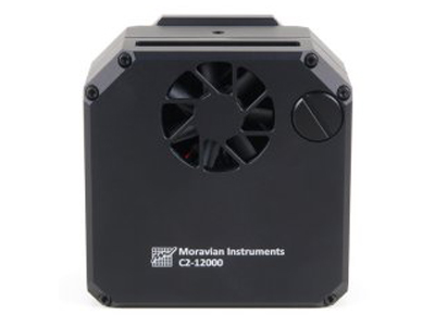 Back side of the C2 camera head contains vents for a fan, cooling Peltier hot side
