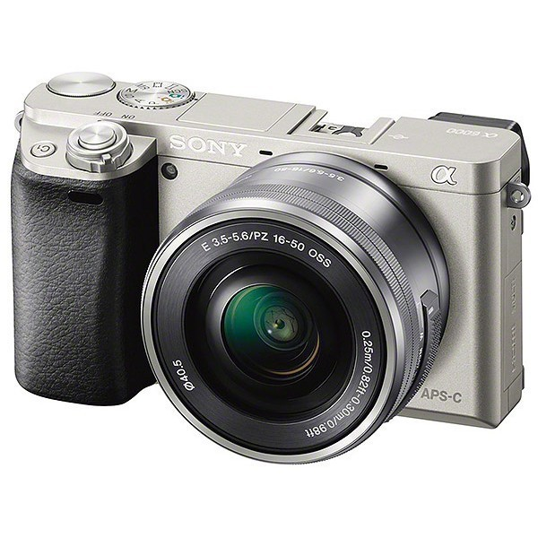 Sony Alpha a6000 Compact System Camera with 16-50mm PZ Lens - SILVER - EX DEMO