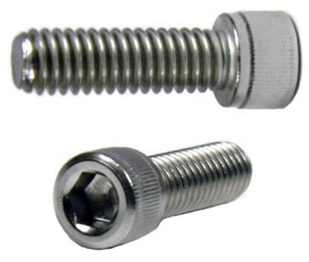 "UNC 1/4""-20 (photo thread) Socket Head Cap Stainless Steel Screw - 12mm Length"