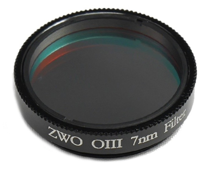 """ZWO 1.25"""" OIII 7nm Narrowband Filter"""