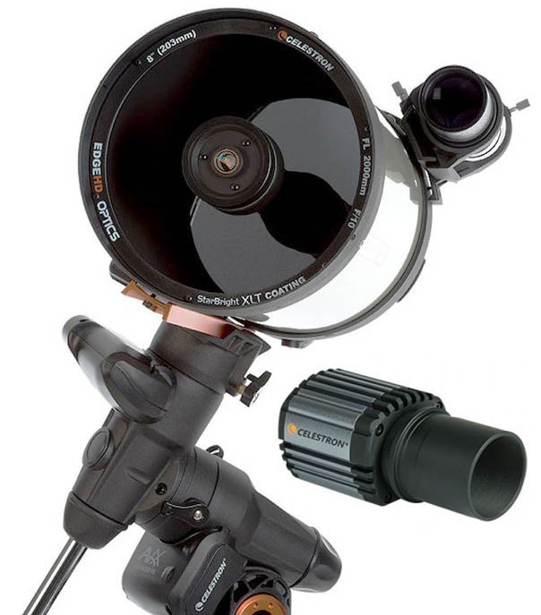 Celestron Advanced VX 8 EdgeHD Computerised Telescope with Skyris 445M Camera