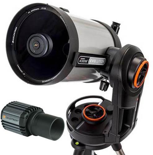 Celestron Nexstar Evolution 8 with Skyris 445C Camera