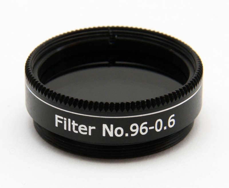 """365Astronomy ND06 Neutral Density Filter with 25% Transmission, 1.25"""", M28, ND96-0.6"""