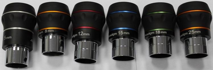 BST Explorer Starguider ED Eyepiece KIT - 3.2mm, 5mm, 8mm, 12mm, 15mm, 18mm and 25mm Eyepieces