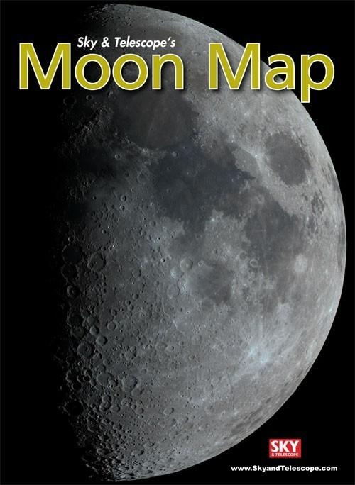 Moon Map Laminated