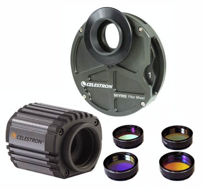 Celestron Skyris 445M + 5-position Filter Wheel + LRGB Filterset BUNDLE  - BLACK FRIDAY