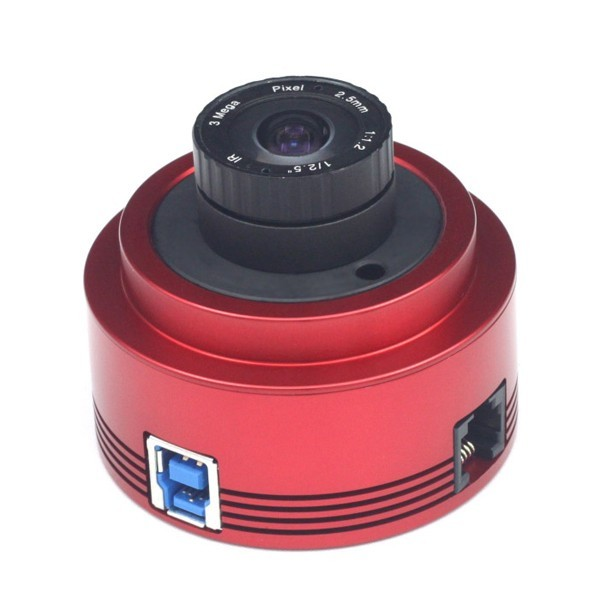 ZWO ASI178MM USB3.0 Back-Illuminated Monochrome CMOS Camera with SONY STARVIS and Exmor R Technology and Autoguider Port