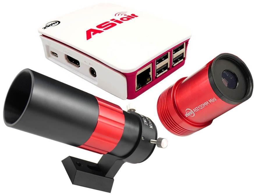 ZWO ASiair Smart WIFI Accessory, ASI120Mini and 30F4 Mini Guidescope BUNDLE