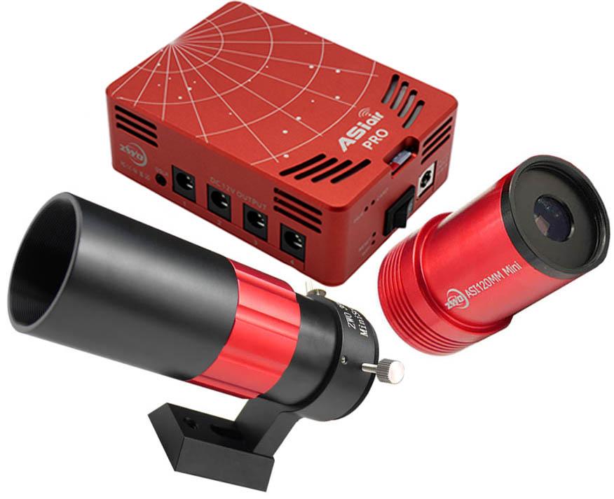 ZWO ASIair PRO Smart WIFI Accessory, ASI120Mini and 30F4 Mini Guidescope BUNDLE