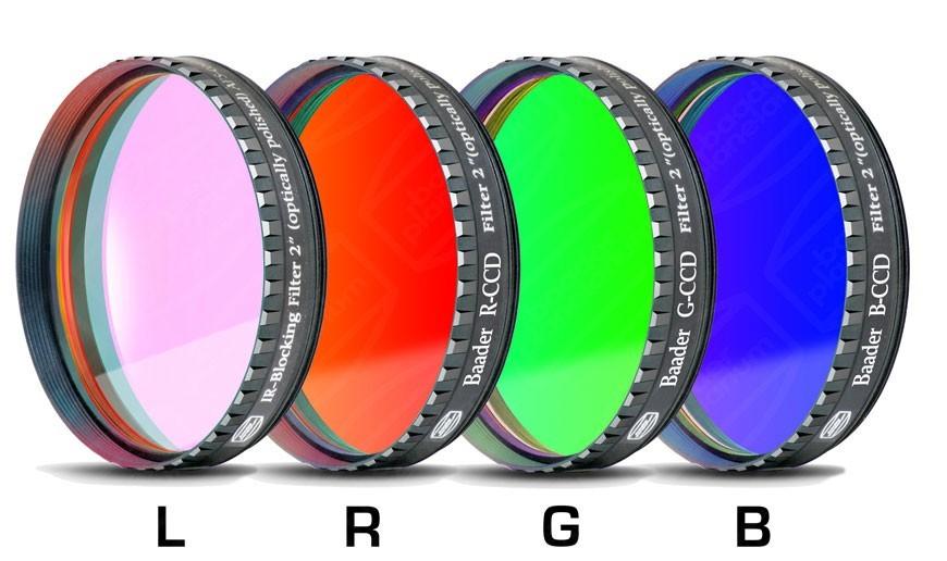 """Baader LRGB-CCD-Filter-Set 2"""", RGB +UV/IR Cut/L-Filter"""