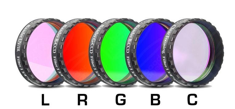 """Baader LRGBC-CCD-Filter-Set 1.25"""" RGB +Clear-Gl+UV/IRCut"""