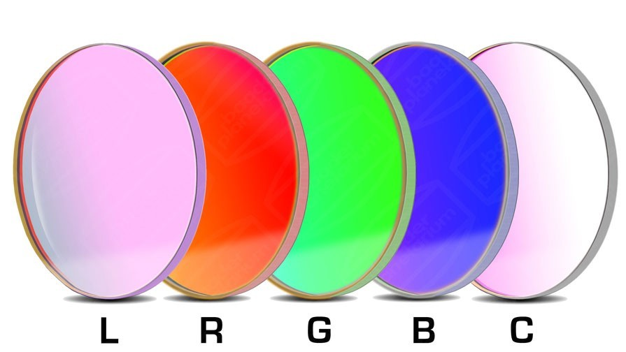Baader LRGBC-CCD-Filter-Set 50.8mm Round +Clear +UV/IR
