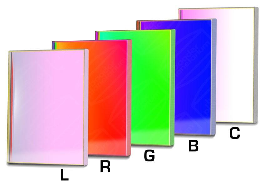Baader LRGBC-CCD-Filter-Set 50x50mm Square RGB