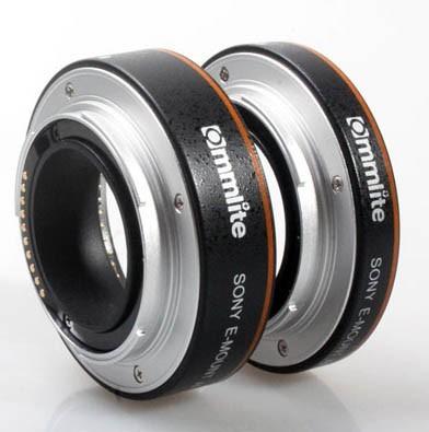 Commlite AF Macro Extension Tube Set Autofocus for SONY Nex E-Mount Camera Lenses - NON-FULL-FRAME