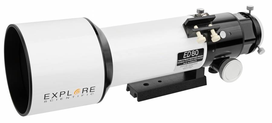 Explore Scientific Triplet ED APO 80mm f/6 DELUXE FCD-100 Refractor Telescope with Hex-Focus
