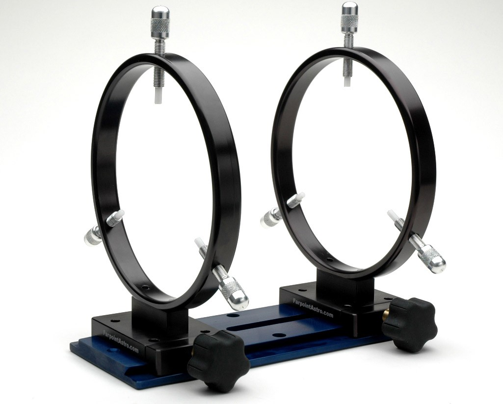 """FARPOINT 160mm I.D. Dovetail GuideScope Rings for 3"""" Rails"""