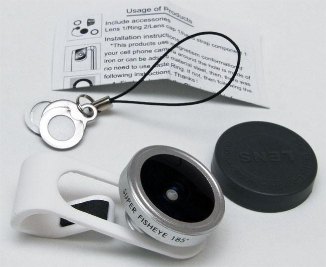 Universal Clip 185 degree Super Fisheye Lens for iPhone HTC Samsung Smartphone