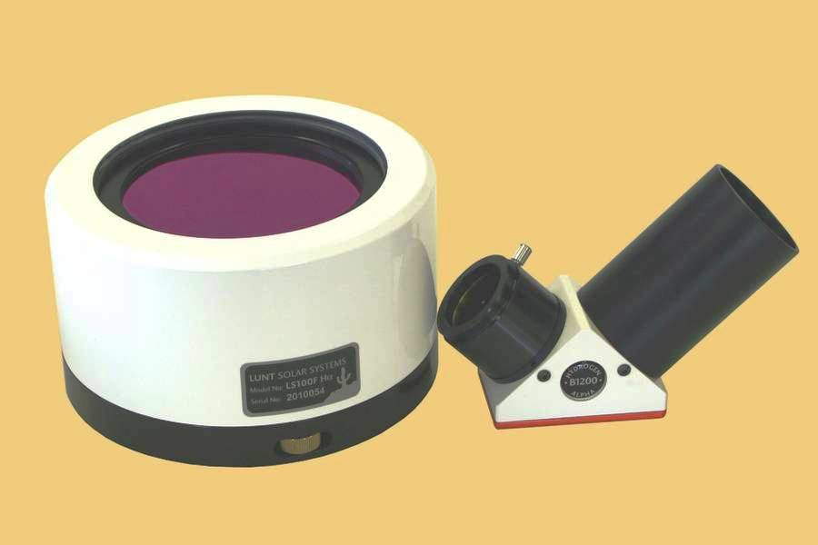 Lunt LS100FHa2/B1200 100mm H-Alpha Etalon-Filter-System with B1200 Blocking Filter for 2-inch Focusers