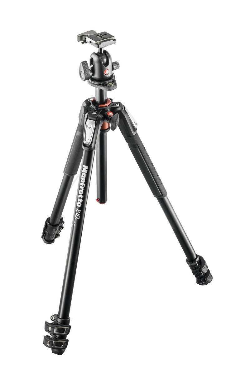 Manfrotto MK190XPRO3-BH 190 Alu 3-section Tripod with Ball Head