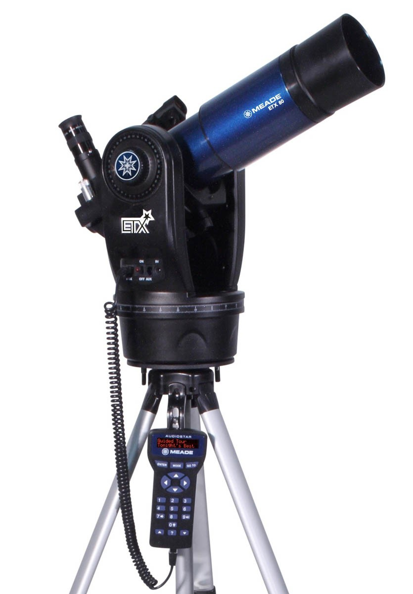 Meade ETX-80 Observer (f/5) Achromatic Refractor Telescope with Backpack