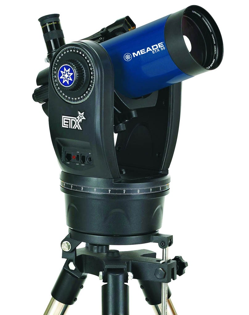 Meade ETX-90 Observer (f/13.8) Maksutov-Cassegrain Telescope with UHTC Coating and Hard Case