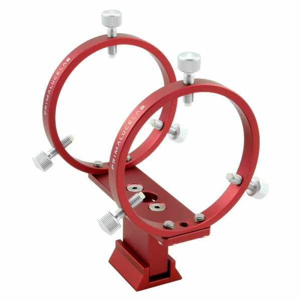 PrimaLuce Lab Deluxe Guidescope Support WITH 80mm Guide Rings on Finder Base