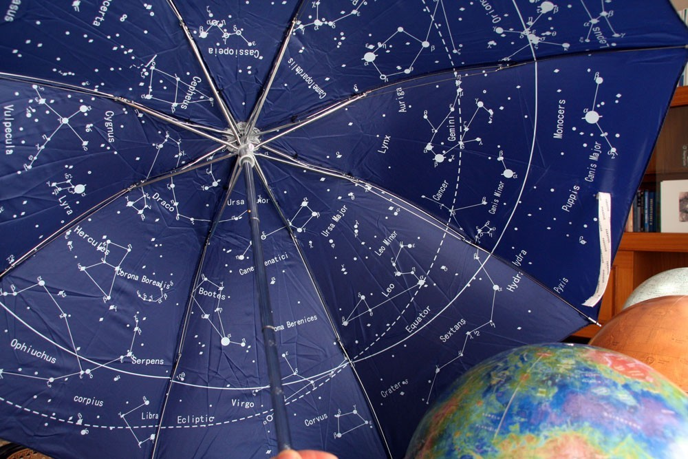The night sky star map celestial constellations umbrella blue gumiabroncs