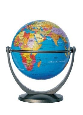 "4"" Stellan Blue Globe 10cm"