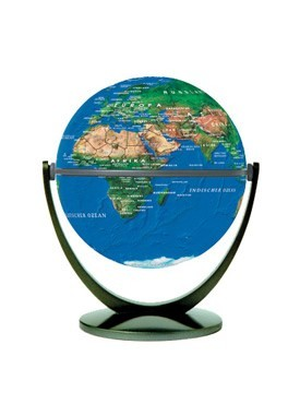 "4"" Stellan Topographical Globe 10cm"