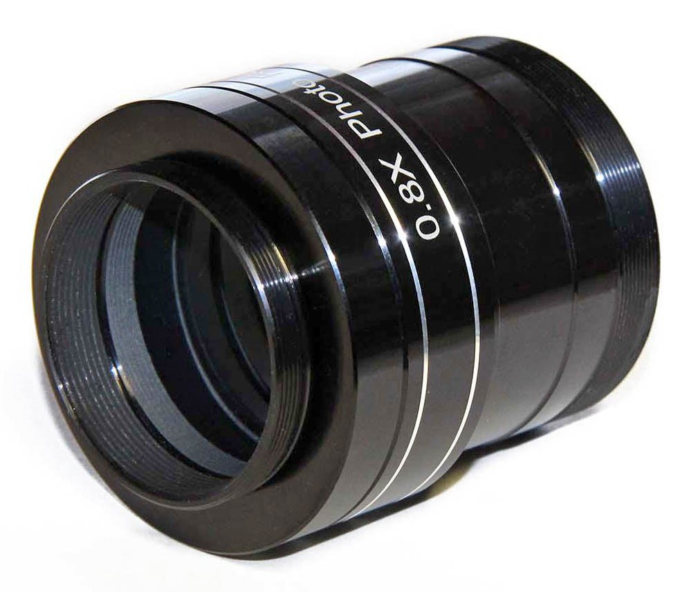 """TS 2"""" PHOTOLINE 0.8x Reducer Field Flattener for 70mm and 80mm ED Refractors from f/6 to f/8"""