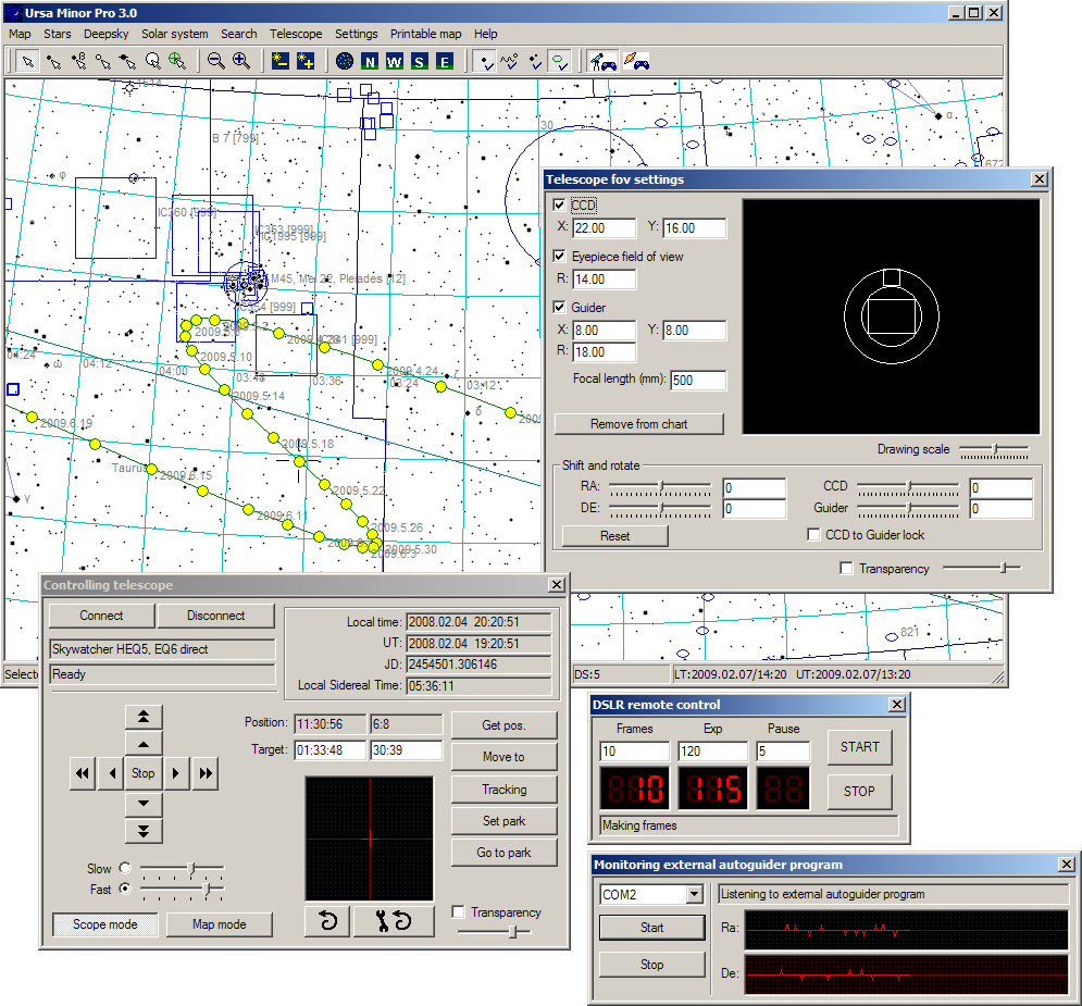 Ursa Minor PRO Professional Astronomical Software