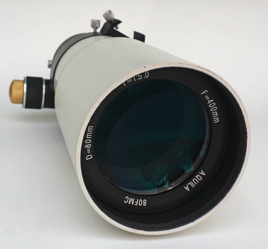 365Astronomy 80/400mm f/5 Imaging Short Achromatic Refractor Telescope with Dual-Speed Focuser