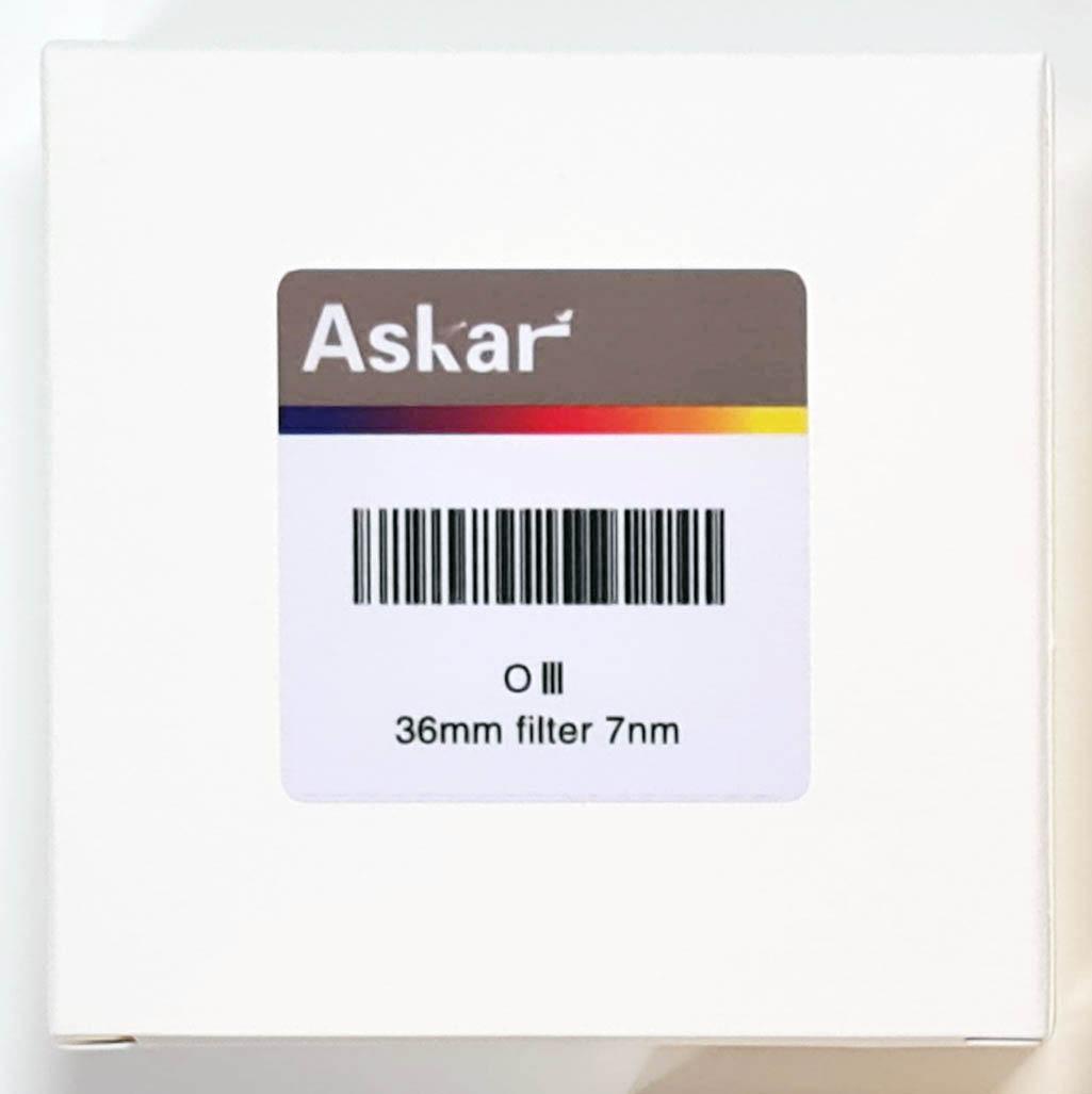 Askar OIII 7nm Narrowband Imaging Filter - 36mm Unmounted