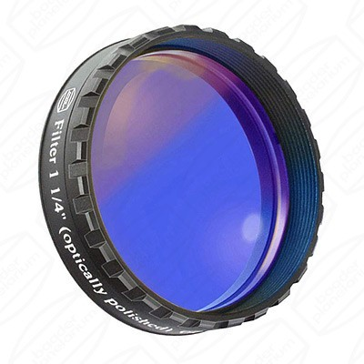 "Dark Blue 1 1/4"" Eyepiece filter 435nm Bandpass"