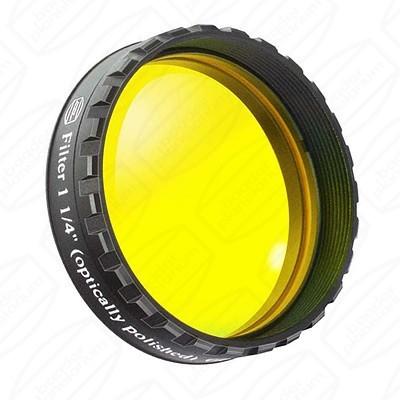 "Yellow 1 1/4"" Eyepiece filter 495nm Longpass"