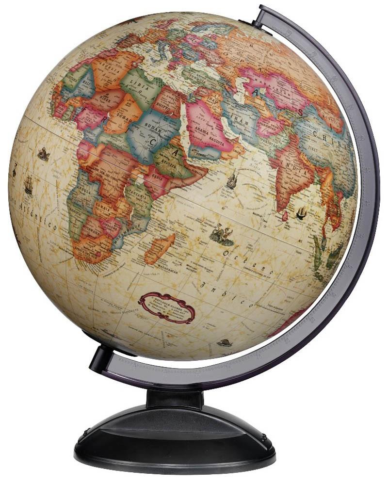 "12"" Gold Classic Copenhagen Antique Illuminated Desktop Globe - CLEARANCE"