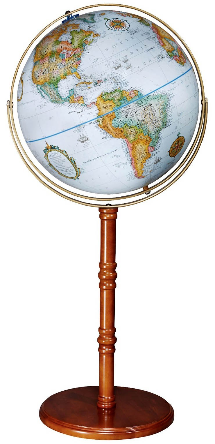 "16"" The Edinburgh II Floorstanding Globe"