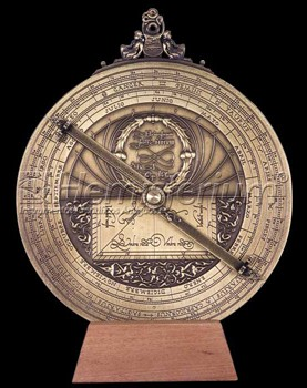 Hemisferium Large Planispheric Astrolabe by L.H.V.  20cm diameter  for 40.4 deg Latitude