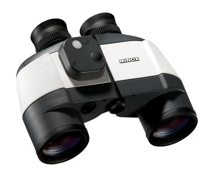 Minox BN 7x50 C Nautical Marine Binocular with Analogue Compass WHITE