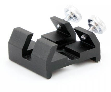 PrimaLuce Lab DX Deluxe Finderscope Shoe for Finderscope Bracket with 4 Long Holes - BLACK