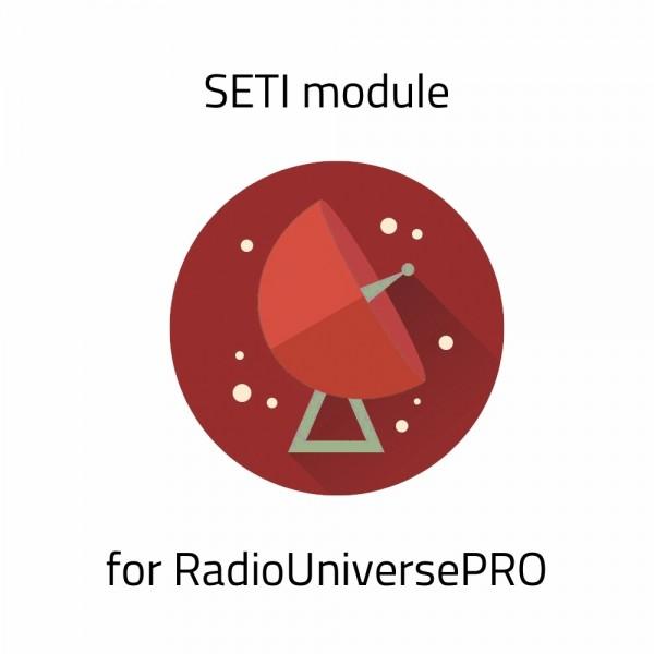 SETI Module for RadioUniversePRO for SPIDER Radio Telescopes