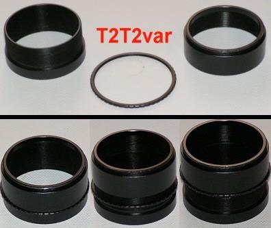 TSOptics Variable Locking T-2 Extension 20mm - 30mm Optical Length