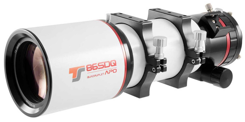 TS-Optics 86mm f/5.4 Quadruplet 4-Element Flatfield Astrograph APO - 60mm field diameter