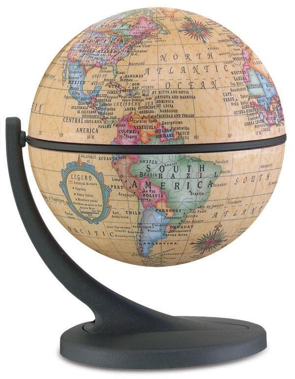 "4.3"" Wonderglobe Antique Desktop Globe Wonder Globe"