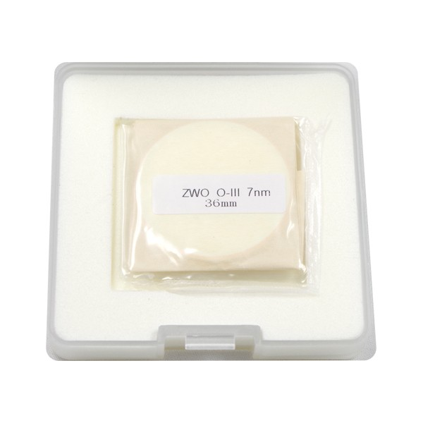 ZWO 36mm OIII 7nm Narrowband Filter - UNMOUNTED - Mark II