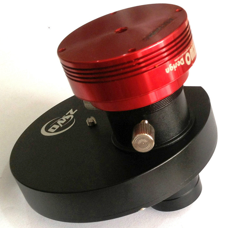 "ZWO 5-position MFW Manual Filter Wheel with 1.25"" Eyepiece Holder & Brass Compression Ring"